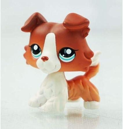 Littlest Pet Shop LPS Toys # No Brown White Collie Dog Rare