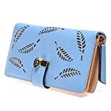 Leaves Hollow Women Wallet Soft PU Leather Women's Clutch Bag Female Ladies Wallets Coin Card Purse