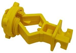 Zareba ITSOY-Z Screw-on T-Post Insulator, Yellow