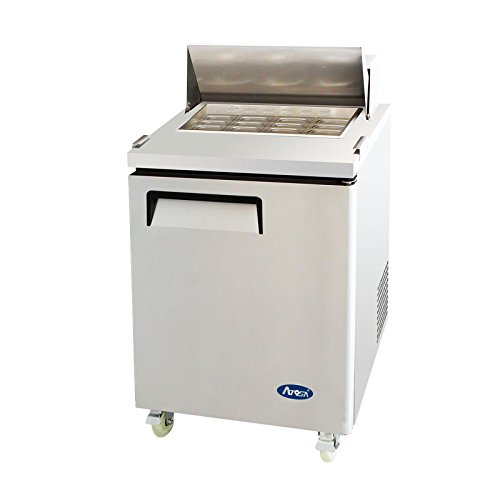 Atosa USA MSF8305 Stainless Steel Mega Top Sandwich/Salad Prep Table 27-Inch One Door Refrigerator (Top 1 Door Salad)