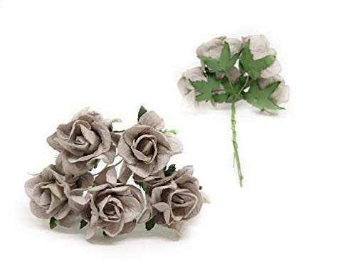 35cm-Grey-Mulberry-Paper-Rose-Flowers-with-Wire-Stems-DIY-Wedding-Favor-Decor-Paper-Bouquet-Artificial-Flowers-Crafts-Home-Decorations-25-Pieces