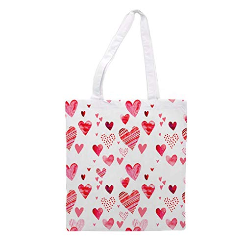 Womens Tote Bag - Cheerful Hearts - Sports Gym Lunch Yoga Shopping Travel Bag Washable - 1.47X0.98 Ft