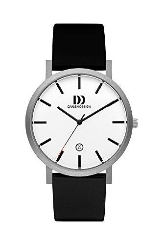 Danish Design Mens Titanium and Leather Watch IQ12Q1108
