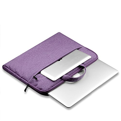 Sammid Sleeve Cover for MacBook 13 inch, 13.3 inch Laptop Sleeve Case Bag Tablet Notebook Carry Bag Carrying Cover with Handle and Pocket for Most 13-13.3 inch Laptop, Notebook, MacBook etc - Purple