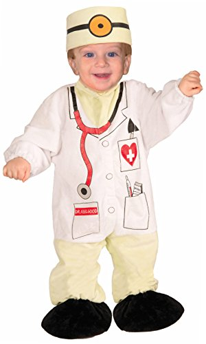 Forum Novelties Baby Boy's I Wannabee Doctor Infant Costume, Multi, (The First Doctor Costume)