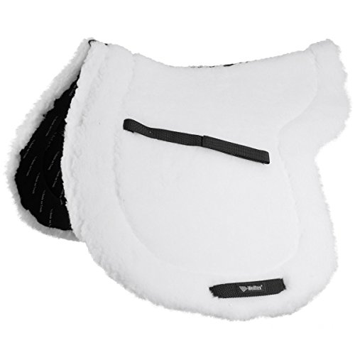 Show Pad - Back on Track TEDDY SADDLE PAD FULL WHITE