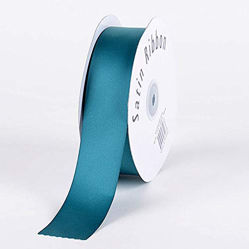 Fuzzy Fabric Single Face Satin Ribbon, Jade - (W: 1-1/2 Inch | L: 100 Yards) (Ribbon Jade Satin)