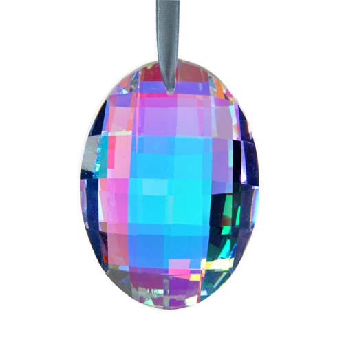 H D Oval Shape Glass Prisms Chandelier Crystal Lamp Parts Hanging Suncatcher Drops Pendant Colorful 63Mm