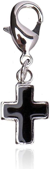 Charms Anhänger Kreuz mit Kristall 925 Silber Geschenkidee Bettelarmband
