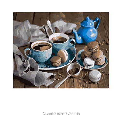 LIWEIXKY Cooffee Leinwand Malerei by Zahlen DIY DIY DIY Bild Ölgemälde Auf Leinwand Für Wohnkultur Für Wohnzimmer - Mit Rahmen - 40x50cm B07PP24W13 | Kostengünstig  44ea40