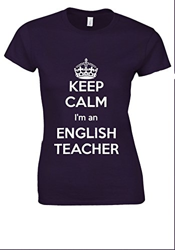前売帳面ビタミンKeep Calm I'm An English Teacher White Women T Shirt Top