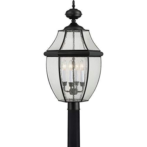 (Quoizel NY9016K  Newbury 4-Light Outdoor Lantern, Mystic Black)