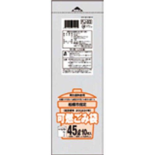 船橋市 可燃30L手付10枚入半透明 FJ03 【まとめ買い(30袋×5ケース)合計150袋セット】 38-517 B00PL9FE9C