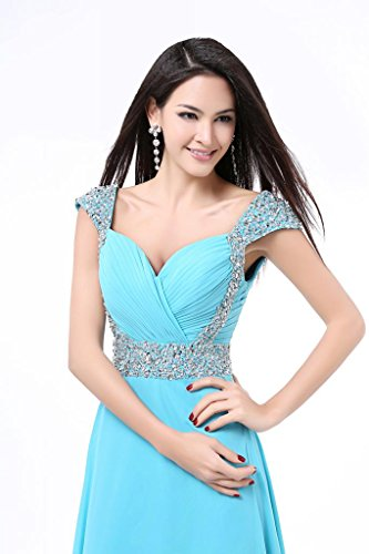 Per Da Turquoise Eventi Lungo Balllily Donna Chiffon Sera Eleganti In Abito Cerimonie Ed 0xw1Oq4