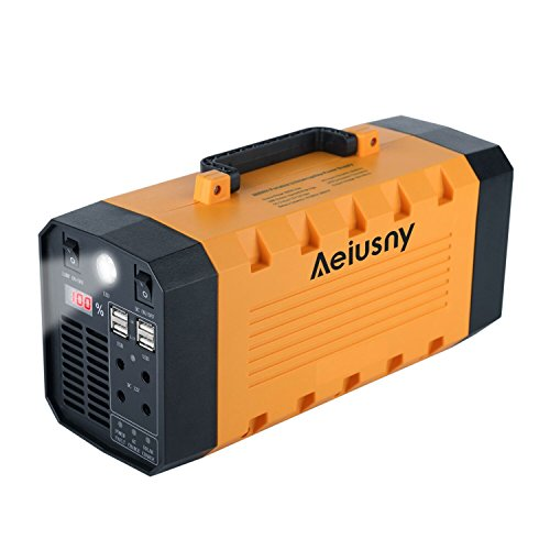 Aeiusny UPS Backup Battery 500W Portable Generator Parts, Uninterrupted Power Supply for CPAP Mask Home Camping Laptop Emergency Battery Backup 288Wh Charged by Solar/AC Outlet/Car for Outdoor&Indoor by Aeiusny (Image #5)