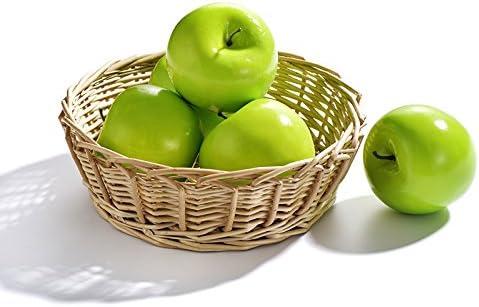 Moonvvin - Juego de manzanas artificiales verdes de simulación realista de frutas artificiales de EVA verde manzana para el hogar, fiesta, cocina, jardín, decoración al aire libre: Amazon.es: Hogar