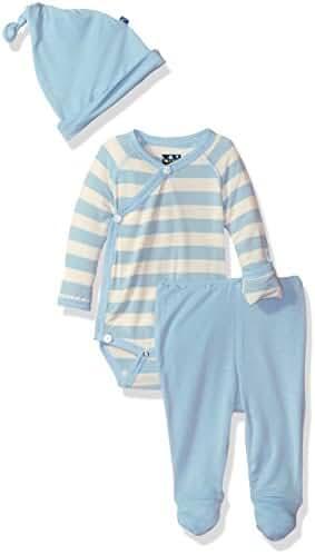 KicKee Pants Baby Boys' Essentials Kimono Newborn Gift Set with Box
