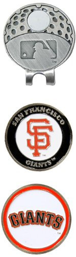 Team Golf MLB San Francisco Giants Golf Cap Clip with 2 Removable Double-Sided Enamel Magnetic Ball Markers, Attaches Easily to