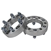 """Prime Cooling, 2"""" 6 Lugs 6x152.4 Wheel Spacer Adapter 9/16"""" Studs Hub Bore 117.3mm (Pack of 2)"""