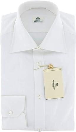 Luigi Borrelli Solid Button Down Spread Collar Cotton Slim Fit Dress Shirt