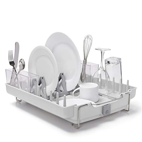 OXO Good Grips Convertible Foldaway Dish Rack, Stainless Steel ()