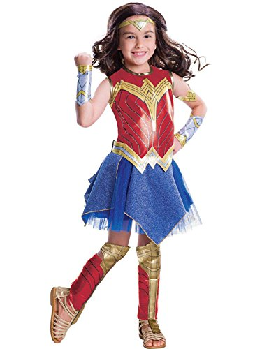Wonder Woman Movie Child's Deluxe Costume, Medium -