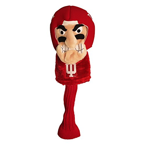 Team Golf NCAA Indiana Hoosiers Mascot Golf Club Headcover, Fits most Oversized Drivers, Extra Long Sock for Shaft Protection, Officially Licensed Product - Indiana Hoosiers Golf Headcover