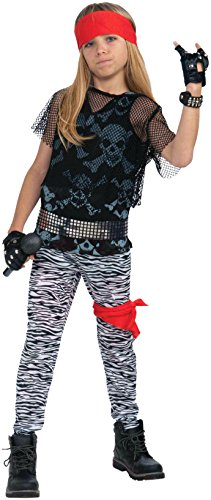 80s Fancy Dress Mens Costumes (80'S Rock Star Boy Child's Costume - Child Small (4-6))