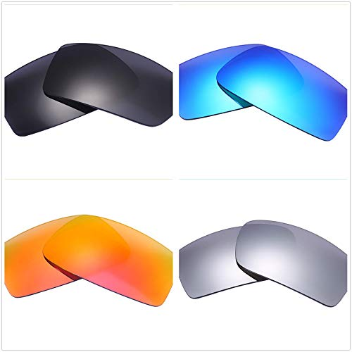 48aea157252 Set of 4 Polarized Replacement Lenses for Oakley Gascan Sunglasses NicelyFit
