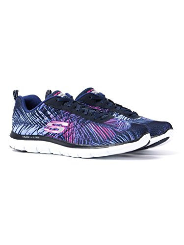 Skechers Flex Appeal 2.0 Tropical Bree, Chaussures Multisport Outdoor Femme Marine