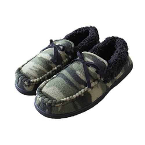 MiYang Woman's Camouflage Plush No-slip Shoes Slipper