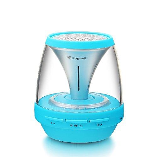 Eachine Vivid Jar Portable Bluetooth Speaker with Lights and FM Radio - Blue - Jar Bluetooth Speaker