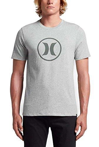 Mens Tee Icon (Circle Icon Dri-fit Tee,Dark Grey,Large)