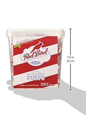 Red Bird Soft Peppermint Puffs 290 Count Tub from Piedmont Candy Company