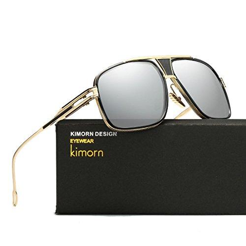 Metal Clásico Sorprendida Mirada Sol Marco Retro AE0336 Gafas De Hombres amp;plata Oro Para kimorn CT4wBUqxW