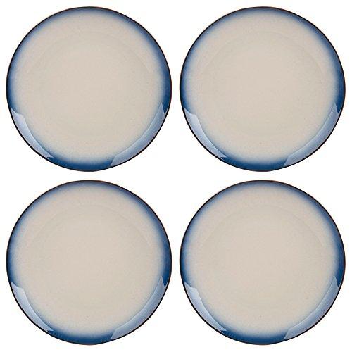 Creative Tops Drift Ombre Blue Ceramic Dinner Plates, 26.5 cm - Blue/White (Set of -