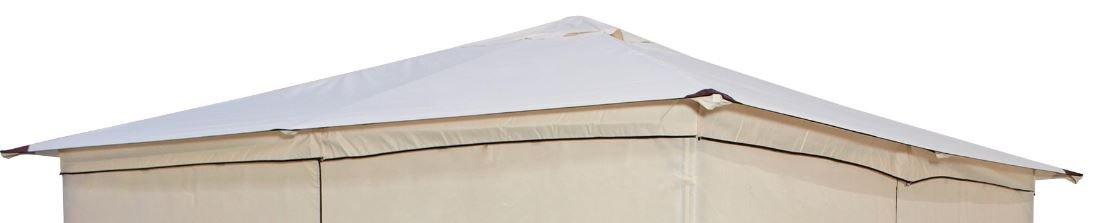 DEGAMO Ersatzdach für Pavillon Venezia 3x3 Meter, wasserdicht, naturfarben