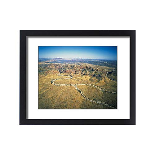 Mcdonnell Ranges - Media Storehouse Framed 20x16 Print of Aerial View Over The west Mcdonnell ranges, Central Australia (14790923)