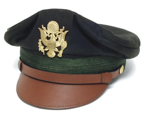 (WWII U.S. Army Officer's Crush Cap Green - 7-1/4
