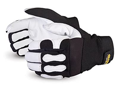 Superior MXGC Clutch Gear Grain Goatskin Leather Mechanics Glove, Work, Black (Pack of 1 Pair)