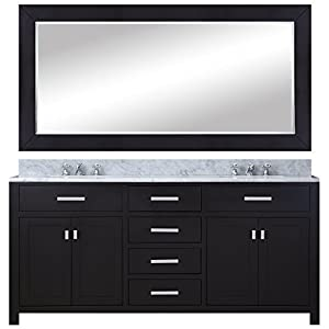 Water creation madison 60eb 60 inch espresso double sink for 60 inch framed mirror