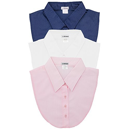 LS Parry Inc. Unisex-Adults 3Pk Navy/Ltpink/White Collared Dickies by Igotcollared, Navy, White, Light Pink, One Size