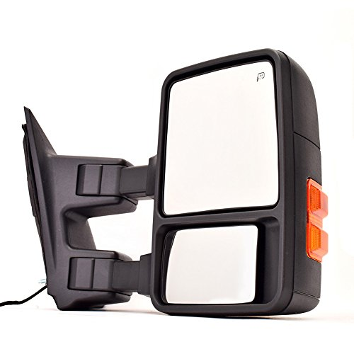 Heated Right Power Mirror (DEDC Ford Towing Mirror Right Passenger Side Mirror Power Heated W/ Turn Signal Light Towing Mirrors For 08-15 Ford Super Duty F250 F350 F450)