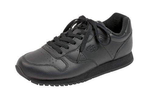 Brütting Schnürer 46070 - Zapatillas de cuero unisex, color Negro