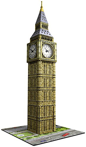 - Ravensburger Big Ben 216 Piece 3D Jigsaw Puzzle Includes Real Working Clock for Kids and Adults - Easy Click Technology Means Pieces Fit Together Perfectly