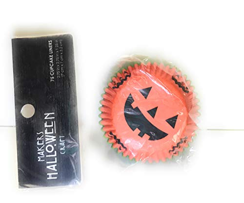 Jack-O-Lantern Halloween Cupcake Liners, 75-Count ()