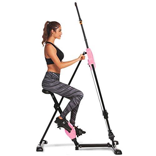 Ziema Sports Vertical Climber Exercise Climbing Machine Folding Step Climber Cardio Stair Step (Pink) Review