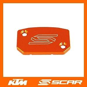 TAPA BOMBA FRENO DELANTERO ALUMINIO KTM SX SXF EXC EXCF 125 250 450 BREMBO NARANJA SCAR