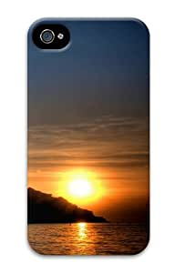 iPhone 4S Case Cover - Lake Sunset 3D iPhone 4S and iPhone 4 PC Hard Back Case Cover
