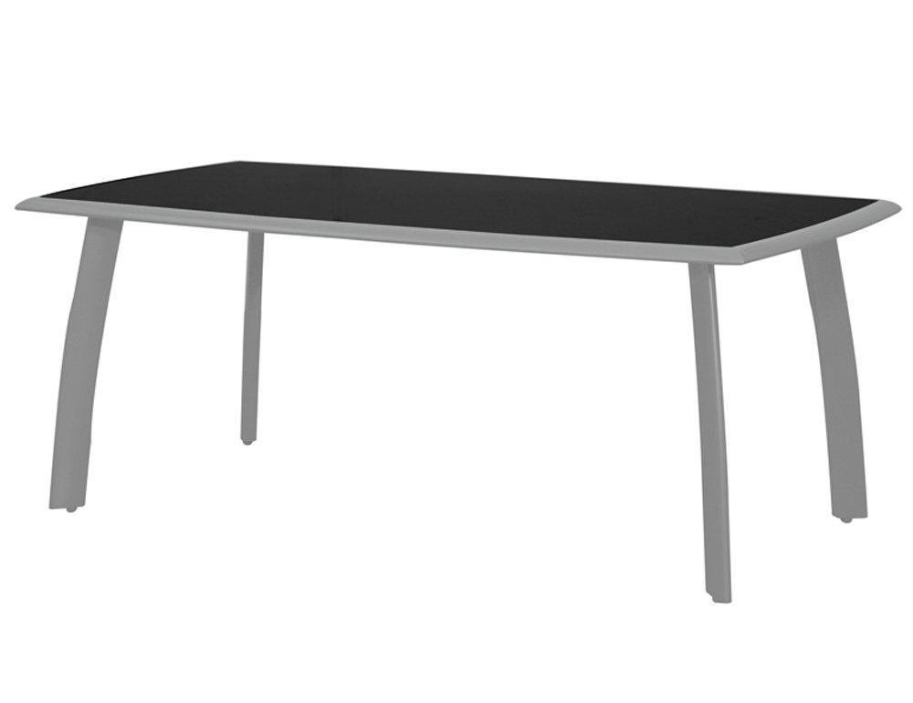 Siena Garden 431264 Tisch Delano,silber Glasplatte schwarz, L 180 x B 100 x H 74 cm